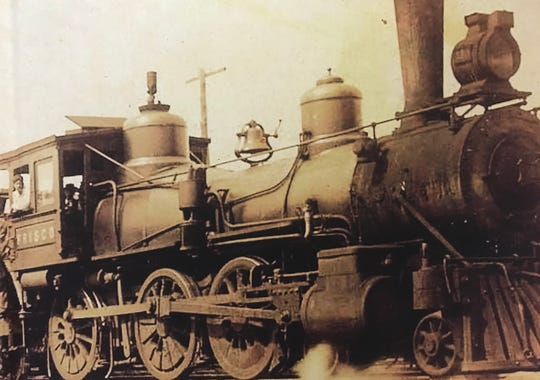 This is the engine of the Chadwick Flyer train that once made a daily 68-mile round trip from Springfield to the area of Chadwick, in Christian County.