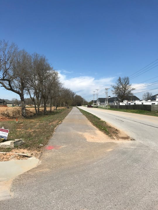 The builder of the Old World Estates, a new residential subdivision in Ozark, put in a part of a new recreational trail that will help link the Galloway Creek Trail in Springfield to Ozark.  The trail at the subdivision is .4 miles.