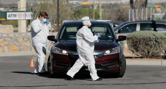 MD Medical Group tests patients for Coronavirus at a drive through facility in northeast El Paso. The testing is open from 8:30am-5pm with appointment only. For an appointment, call 1-888-776-5252.
