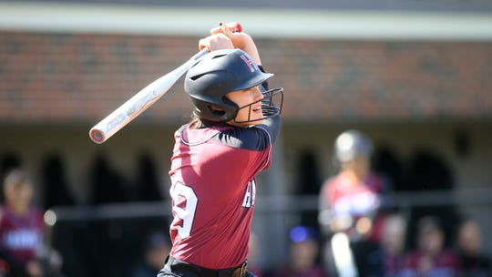 Westlake High graduate Morgan Melito was hitting .258 with a homer and four RBIs in 10 games before Harvard's softball season was ended by the coronavirus pandemic.