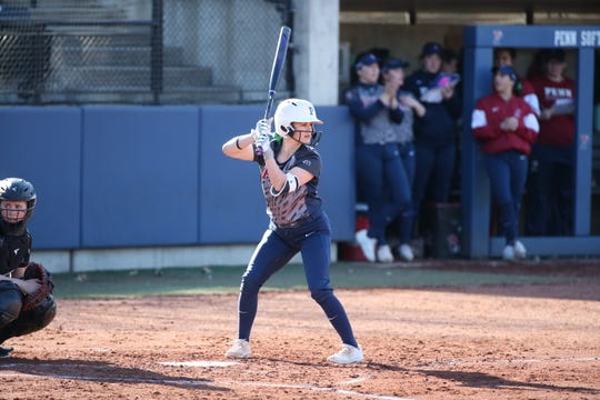 Oaks Christian graduate Sarah Ketring's junior softball season at the University of Pennsylvania was cut short by the coronavirus epidemic.