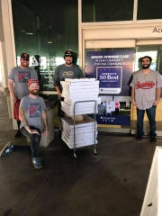 Visalia Rawhide donated $500 worth of food from The Planing Mill to Kaweah Delta this week.