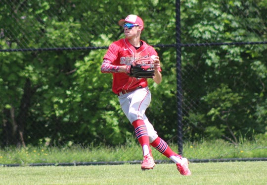 Somers outfielder Thomas Parisi pictured during a game in 2019.