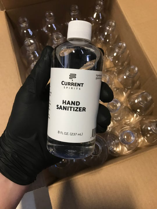 Hand sanitizer from Elmsford-based Current Spirits is now available at DeCicco & Sons.