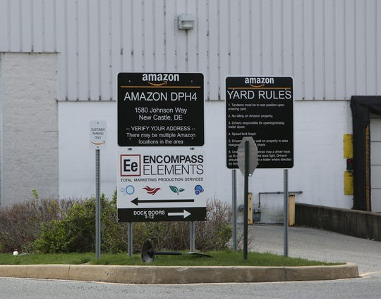 Amazon's DPH4 Distribution Center near New Castle