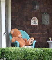 Self isolation and social distancing with children can be difficult but going for a walk in the neighborhood becomes going on a bear hunt as more homes are putting teddy bears and other stuffed animals where they can be spotted by those passing by.