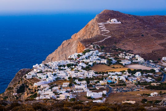 Folegandros (pictured here), Milos and Amorgos are among Greece's lesser-known gems.