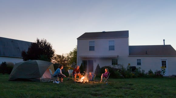 Spend a night beneath the stars and camp in your yard.
