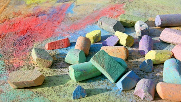 Sidewalk chalk is a classic outdoor activity that's great for kids, and adults who like to draw.