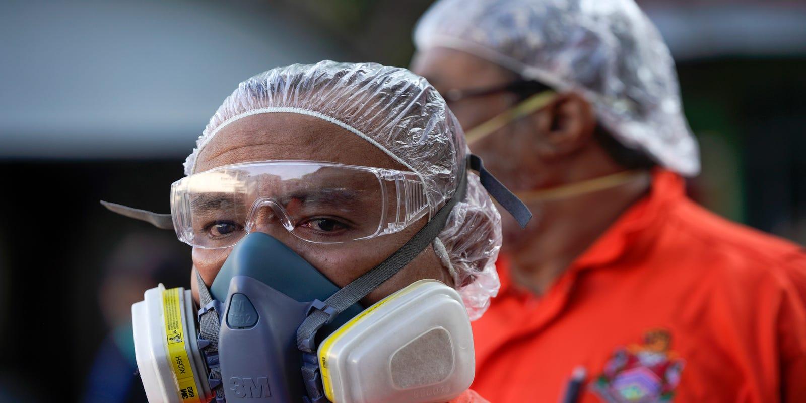 respirator mask virus