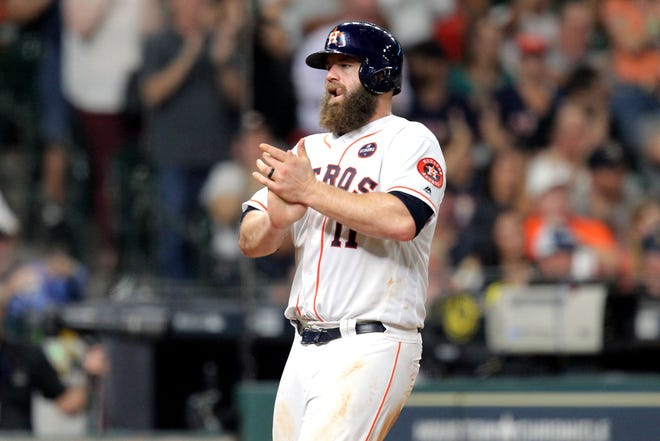 Evan Gattis met 12 home runs and 55 RBIs in 2017 with .263 when the Astros won the World Series.