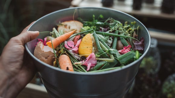 Composting helps you convert your table scraps to rich, fertile soil.