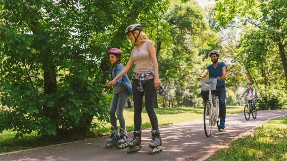 Bust out your bike, scooter, or rollerblades to get out of the house and cruise.