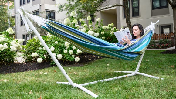 Lounging on a hammock is a great way to enjoy spring without leaving your backyard.