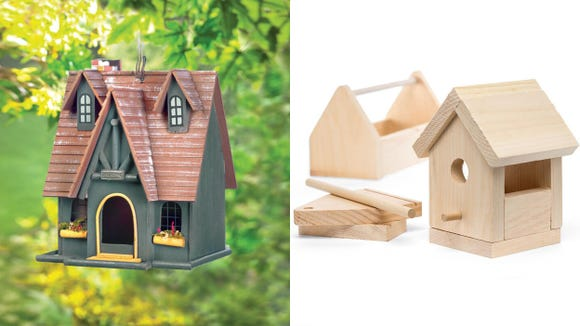 Become a bird's favorite yard by adding a birdhouse.