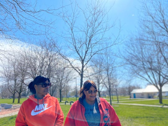Sugar Clarke and Reeva Neighbors remember their childhood friend Kaydee Bobbitt, 33, who was fatally shot while driving in Des Moines' Drake neighborhood on April 3, 2020.