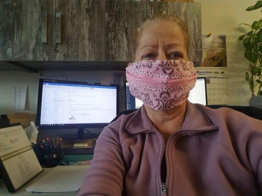 Lee's aunt, Kim Roche, at work in Queens