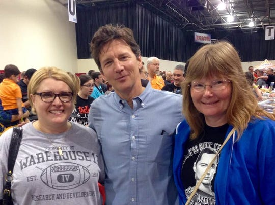 Lisa Ewald, left, and close friend Juleen Miller, right, pose with actor Andrew McCarthy at Rose City Comic Con in 2014. The pair were close friends, and Miller said Ewald's death came with little warning just days before Ewald's  birthday.