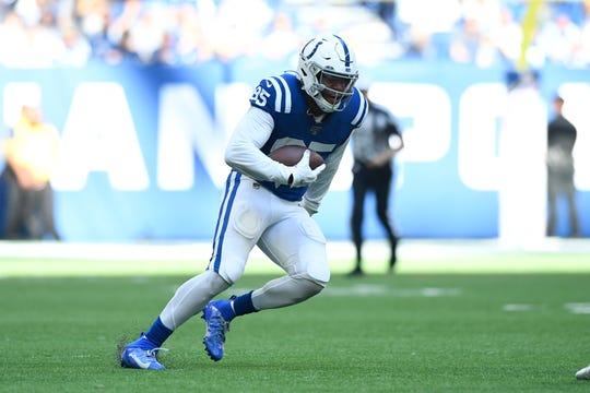 Tight end Eric Ebron had 97 catches for 1,125 yards and 16 TDs in two seasons with the Colts (2018-19).