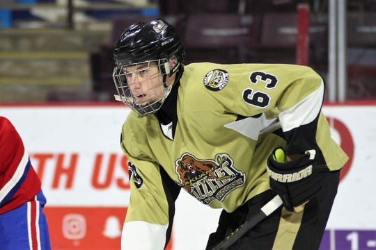 Oakland Jr. Grizzlies winger Nathan Lewis was selected by the Kitchener Rangers in the seventh round of the OHL draft on Saturday.