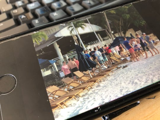 Photos of people on the beach on Guam have shared on social media with accompanying messages claiming these are USS Theodore Roosevelt sailors who are supposed to be quarantined. Joint Region Marianas said none of the people pictured are USS Roosevelt sailors. Joint Reion Marianas said this photo was taken on March 21, before the USS Roosevelt was in Guam.