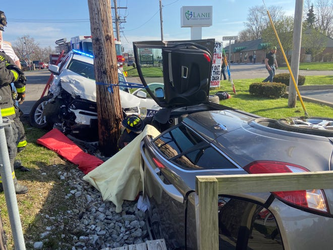 A Bargersville Police officer and another driver were taken to the hospital with minor injuries on April 3, 2020 after they were involved in a car crash near State Road 135 and Village Road.