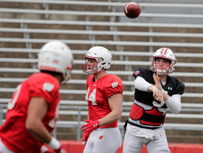 Under normal circumstances, quarterback Graham Mertz and the Badgers would be about halfway through spring practice.