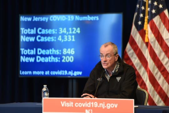 Gov. Phil Murphy held a moment of silence at his daily briefing on April 4 for the 846 New Jerseyans who died in the outbreak.