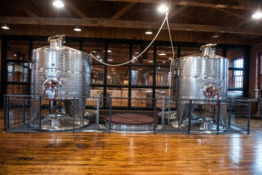 Fermenters are on display in the event space at City Winery in Montgomery on Friday, March 13.