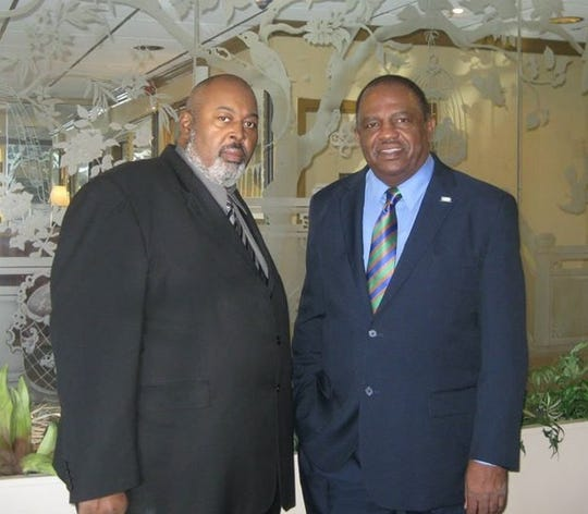 Shreveport NAACP President Lloyd Thompson (left) and City Councilman Willie Bradford.
