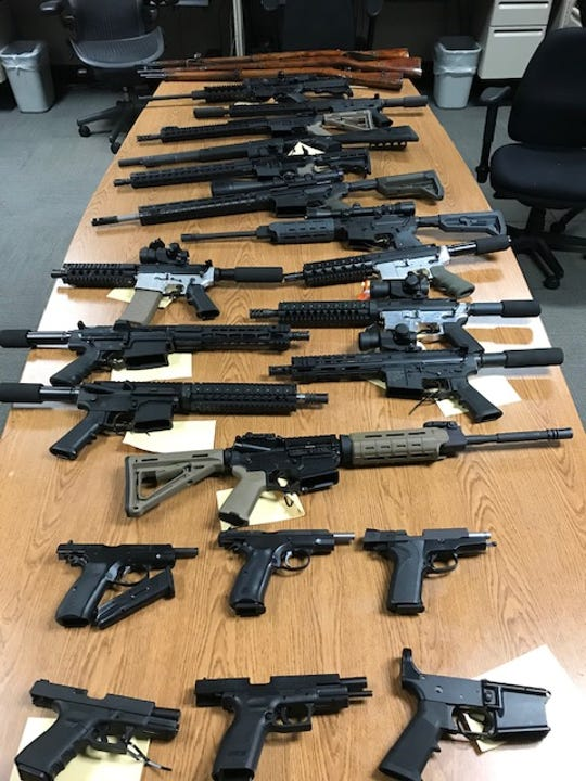 Firearms seized by Ventura County Sheriff's officials.