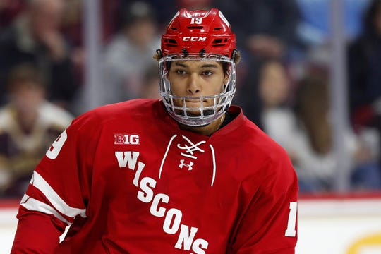 Wisconsin's K'Andre Miller agreed to terms with the Rangers on March 16.