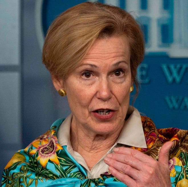 Dr. Deborah Birx, coordinator for the White House coronavirus task force, warns that the U.S. could see a jump in coronavirus deaths in hard-hit areas such as New York, Detroit and Louisiana in the coming week.