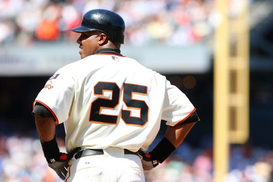 Barry Bonds during his final season in 2007.