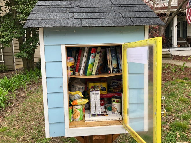 This Free Little Library in Haddon Township is doing double duty as a food pantry for anyone in need or just out of a key ingredient.