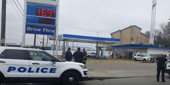 A man was shot in the stomach in Winton Place Sunday afternoon, police said.