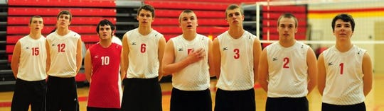 Fenwick High School boys volleyball team won the 2013 state Division II championship.