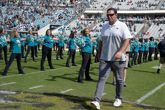 Tony Boselli was honored during a halftime ceremony by the Jacksonville Jaguars last season.