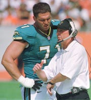 Tackle Tony Boselli, 47, played in 91 games -- starting 90 games -- seven years (1995-20010 with the Jaguars.
