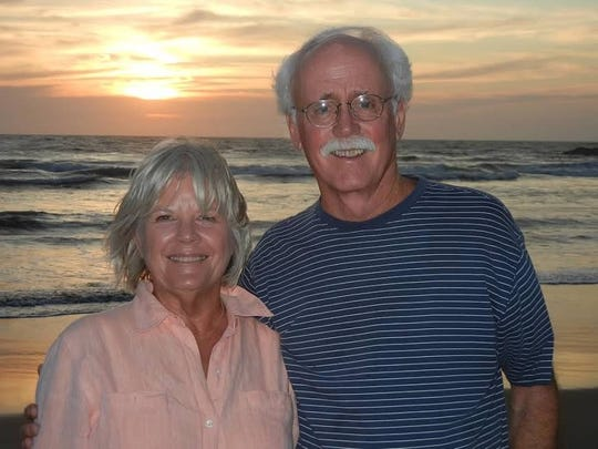 Charlie Safley and his wife, Donna Safley, at the beach. Safley died from complications related to COVID-19 on April 3.