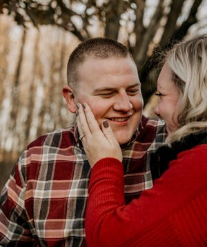 Jenna Garski, a critical care technician at Froedtert Menomonee Falls Hospital, is planning her wedding to her high school sweetheart Josh Schwechel. Garski entered the Amelishan Bridal wedding gown giveaway.