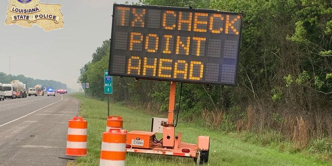 Texas has set up checkpoints on its eastern borders to screen Louisiana drivers entering the state for coronavirus.