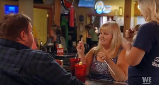 "A scene from season 4, episode 2 of ""Mama June: From Not to Hot,"" with Big Mike and Joanne Shannon at Coaches Corner in Wetumpka. The episode aired Friday, April 3."