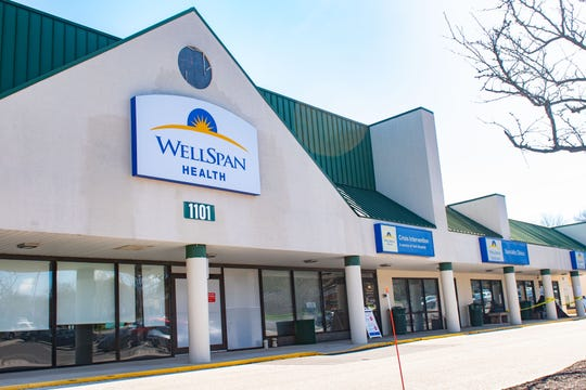 Saubel's Markets donated boxes of hand sanitizer to WellSpan for health care use, April 2, 2020.