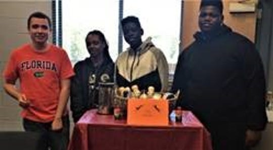 First Place: Gadsden County High School High Tech. Project Name:  Jag Snacks.  Product Overview:  Jag Snacks is designed to meet the demand among teachers for high protein, low calorie energy snacks and beverages at Gadsden County High School.
