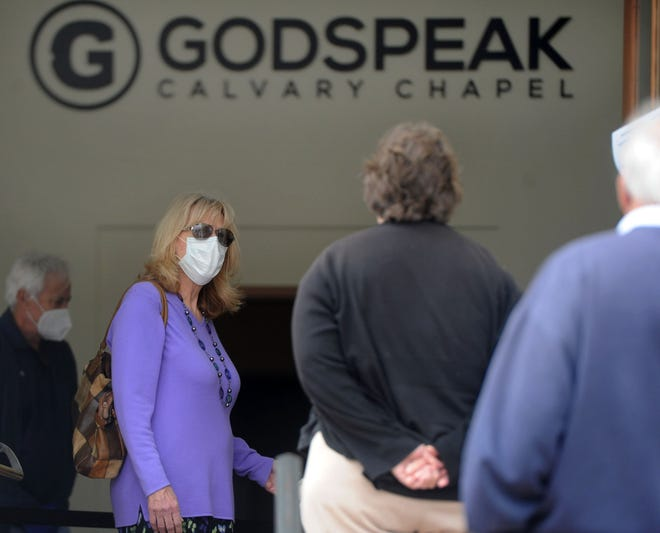 Ventura County has been granted a temporary restraining order against Godspeak Calvary Chapel in Newbury Park and Pastor Rob McCoy.