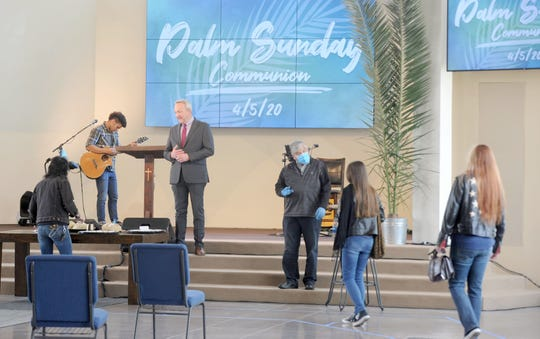 Godspeak Calvary Chapel in Newbury Park plans to hold several Pentecost services May 31. The church hosted a Communion service on Palm Sunday in April, despite state and county stay-at-home orders. To attend a Pentecost service, visitors must register online in advance, said Pastor Rob McCoy.