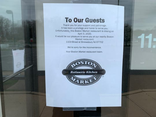 Boston Market has closed its restaurants in Middletown and Howell.