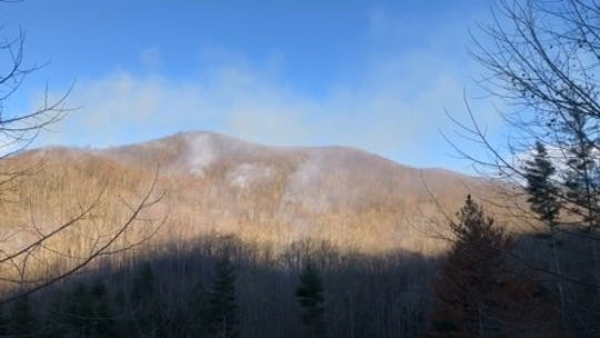 The Camp Daniel Boone Fire, which started April 3, is burning in the Shining Rock Wilderness of Pisgah National Forest.