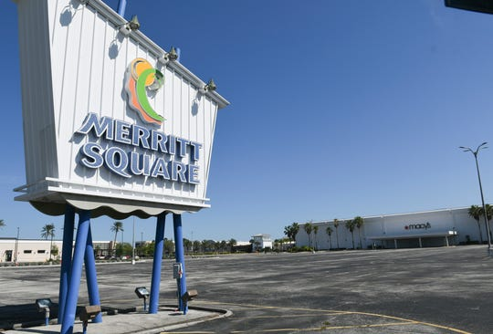 The parking lot at Merritt Square Mall in Merritt Island is empty of shoppers Friday, April 3. Stores in the mall are closed due to the coronavirus pandemic. Mandatory Credit: Craig Bailey/FLORIDA TODAY via USA TODAY NETWORK